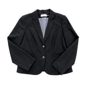 CALVIN KLEIN Women's Grey Modern Blazer Jacket 14